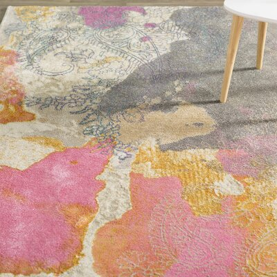Virgil Pink Area Rug Rug Size: Rectangle 710 x 1010