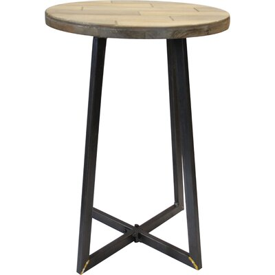 Tisbury Rustic Wood End Table