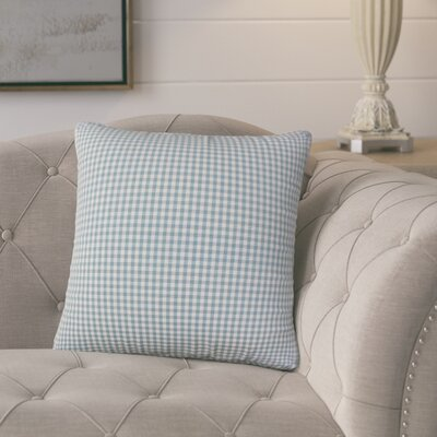Bergmann Plaid Cotton Throw Pillow Color: Aqua