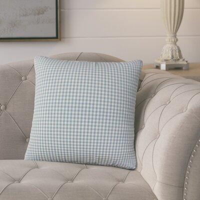 Bergmann Plaid Cotton Throw Pillow Color: Aqua