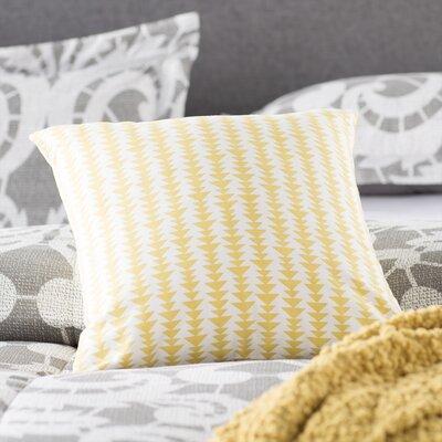 Duerr Cotton Throw Pillow Color: Banana, Size: 18 x 18