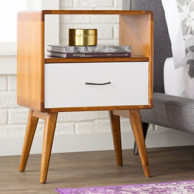 Collado End Table Color: White