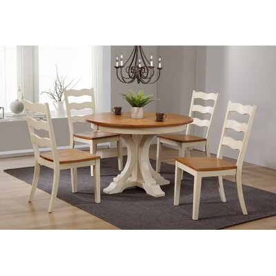 Dessert Deco Antiqued Transitional Ladder Back 5 Piece Extendable Dining Set Color: Antiqued Traditional