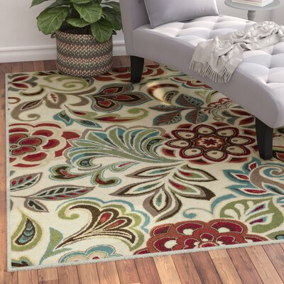 Brightling Ivory Area Rug Rug Size: Rectangle 5 x 8