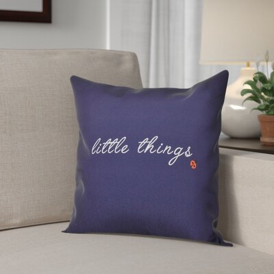 Scotland Little Things Throw Pillow Size: 26 H x 26 W, Color: Navy Blue