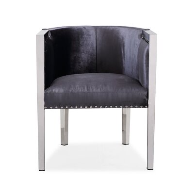 Britley Contemporary Back Barrel Chair Upholstery: Charcoal
