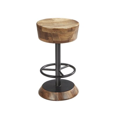 Morlan Wood Style Adjustable Height Bar Stool