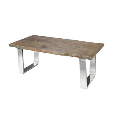 Center Drive Live Edge Wood Grain Detailed Coffee Table