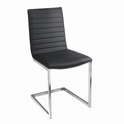 Botkins Modern Upholstered Dining Chair Upholstery: Black