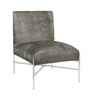 Betts Polished Steel Side Chair