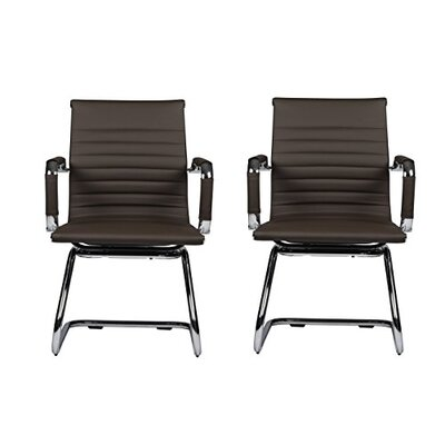 Kingstowne Mid-Back Guest Chair Color: Black