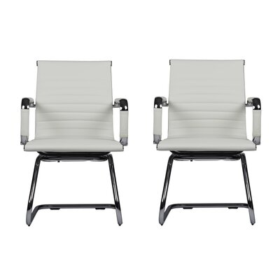 Kingstowne Mid-Back Guest Chair Color: White