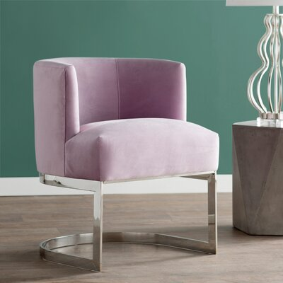 Creeves Barrel Chair Upholstery: Blush