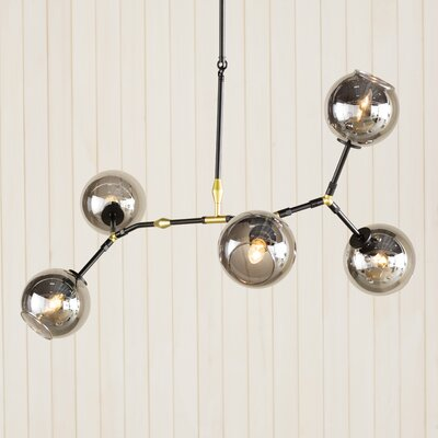 Doolin 5-Light Pendant Shade Color: Gray