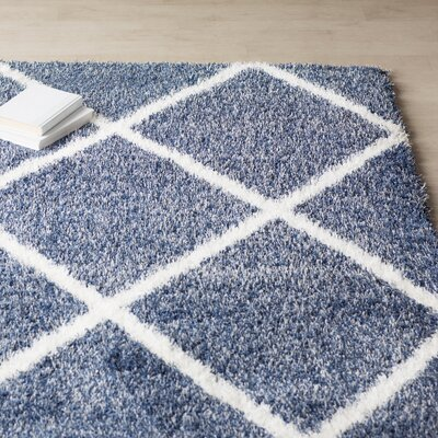 Bronson Trellis Blue Area Rug Rug Size: Rectangle 710 x 10