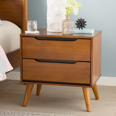 Mason 2 Drawer Nightstand Color: Oak
