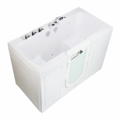 Tub4Two 60 x 30 Walk-in Combination Bathtub Type: Air Massage/Microbubble Therapy