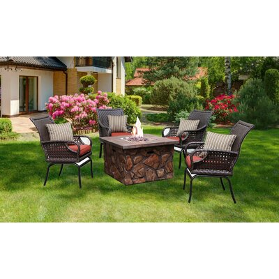 Information about Pastore Rattan Sunbrella Dining Set Firepit Cushion - Product picture - 20451