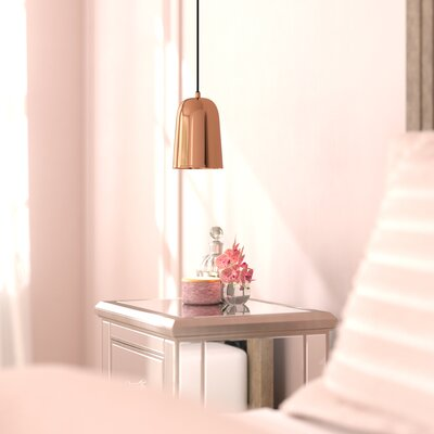 Callista 1-Light LED Mini Pendant Shade Color: Copper Electroplated