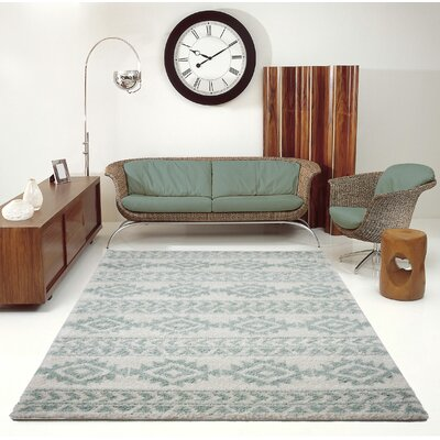 Hiebert Ivory/Aqua Area Rug Rug Size: Rectangle 710 x 105