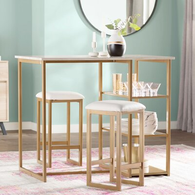 Denham 3 Piece Pub Table Set