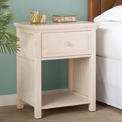 Valladares Solid Wood Cottage Style Nightstand Color: Eggshell Glaze