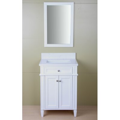 Wylie 24 Single Bathroom Vanity Set Base Finish: Cream White