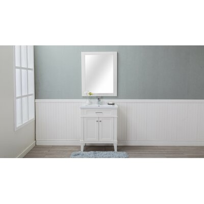 Chronister 30 Single Bathroom Vanity Set Base Finish: Cream White