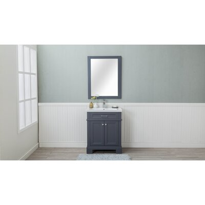 Caudell 30 Single Bathroom Vanity Set Base Finish: Gray