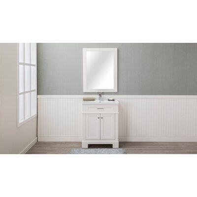 Caudell 30 Single Bathroom Vanity Set Base Finish: Cream White