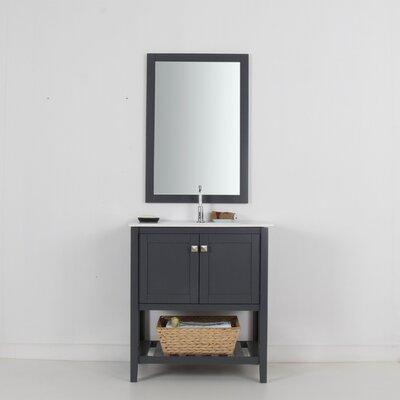 Aubry 30 Single Bathroom Vanity Set Base Finish: Gray