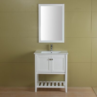 Aubry 30 Single Bathroom Vanity Set Base Finish: Cream White