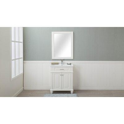 Chumbley 30 Single Bathroom Vanity Set Base Finish: Cream White