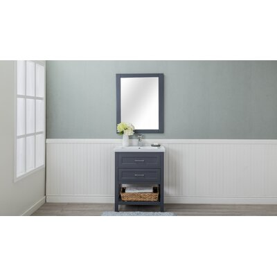 Caudillo 30 Single Bathroom Vanity Set Base Finish: Gray
