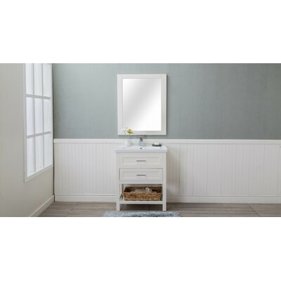 Caudillo 30 Single Bathroom Vanity Set Base Finish: Cream White