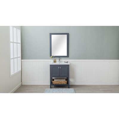 Caudillo 30 Single Bathroom Vanity Set Base Finish: Gray
