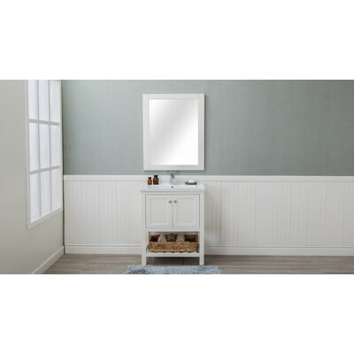 Caudillo 30 Single Bathroom Vanity Set Base Finish: Cream White