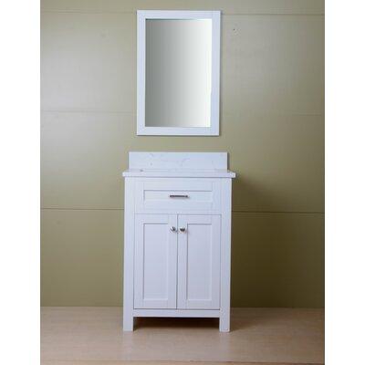 Ryenne 24 Single Bathroom Vanity Set Base Finish: Cream White