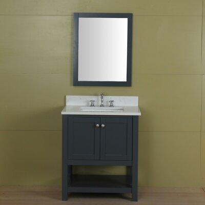 Shawnette 30 Single Bathroom Vanity Set Base Finish: Gray