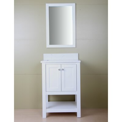 Shawnette 24 Single Bathroom Vanity Set Base Finish: Cream White