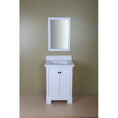 Stetson 24 Single Bathroom Vanity Set Base Finish: Cream White