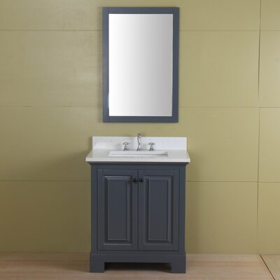 Stetson 30 Single Bathroom Vanity Set Base Finish: Gray