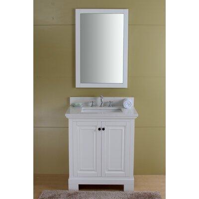 Stetson 30 Single Bathroom Vanity Set Base Finish: Cream White