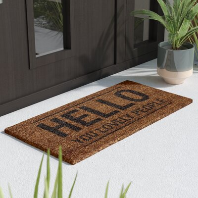 Bruck Hello You Lovely People Doormat Rug Size: 14 x 28