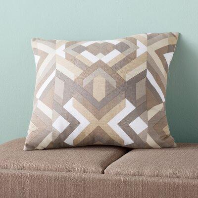 Dorsch 100% Cotton Throw Pillow Size: 18 H x 18 W x 4 D, Color: Charcoal, Filler: Polyester