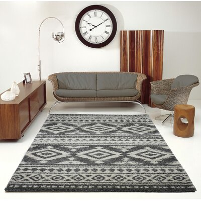 Lindgren Gray/Ivory Area Rug Rug Size: Rectangle 53 x 75