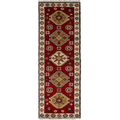 One-of-a-Kind Berkshire Hand-Knotted Wool Red Indoor Area Rug