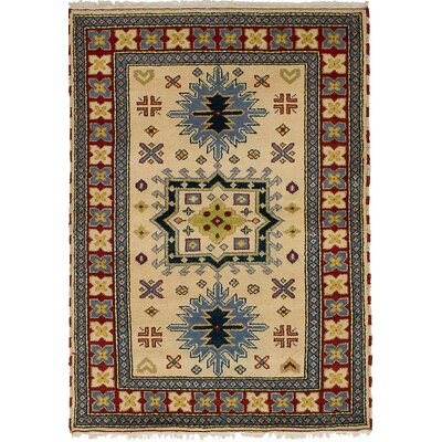 One-of-a-Kind Berkshire Hand-Knotted Wool Cream Indoor Area Rug