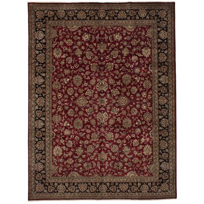 One-of-a-Kind Kenmar Hand-Knotted Wool Dark Red Area Rug