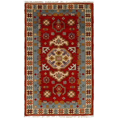 One-of-a-Kind Berkshire Hand-Knotted Wool Orange Indoor Area Rug